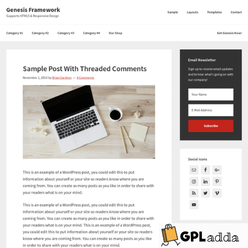StudioPress – Genesis WordPress Theme Framework