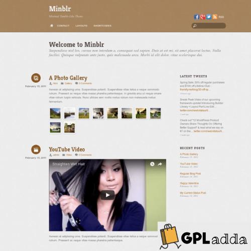 Themify – Minblr Premium WordPress Theme