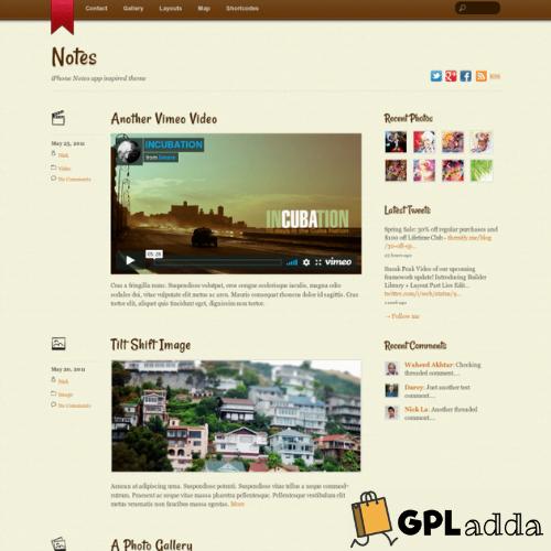 Themify – Notes Premium WordPress Theme