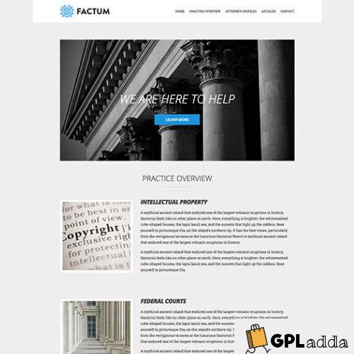 CSSIgniter – Factum WordPress Theme