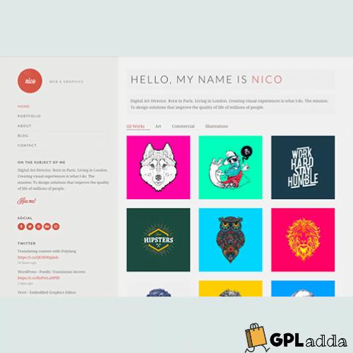 CSS Igniter – Nico Portfolio WordPress Theme