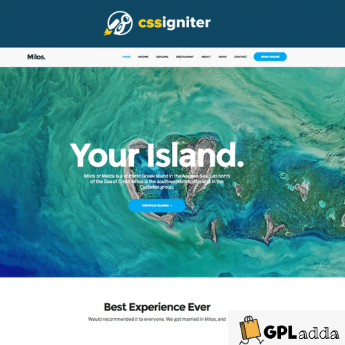 CSSIgniter – Milos WordPress Theme