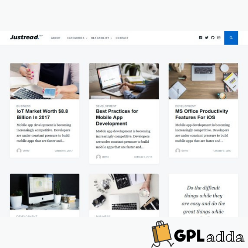 GretaThemes – Justread WordPress Theme