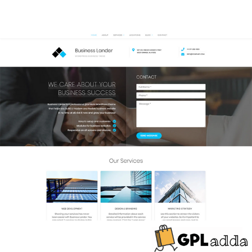 GretaThemes – Business Lander WordPress Theme