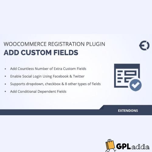 WooCommerce – Custom User Registration Fields WooCommerce Extension