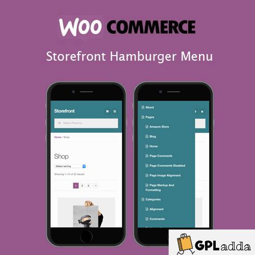 WooCommerce – Storefront Hamburger Menu WooCommerce Extension