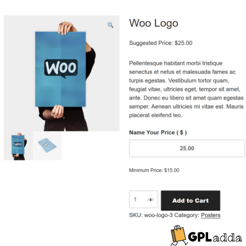 WooCommerce – Name your Price WooCommerce Extension