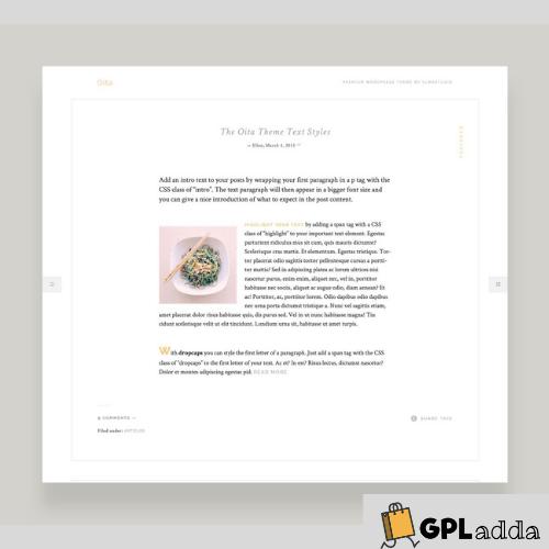 Elmastudio – Oita Premium WordPress Theme
