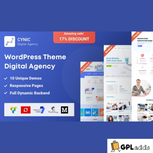 Agency Cynic - Digital Agency & Startup Agency WordPress Theme