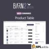 Barn2 Media WooCommerce Product Table