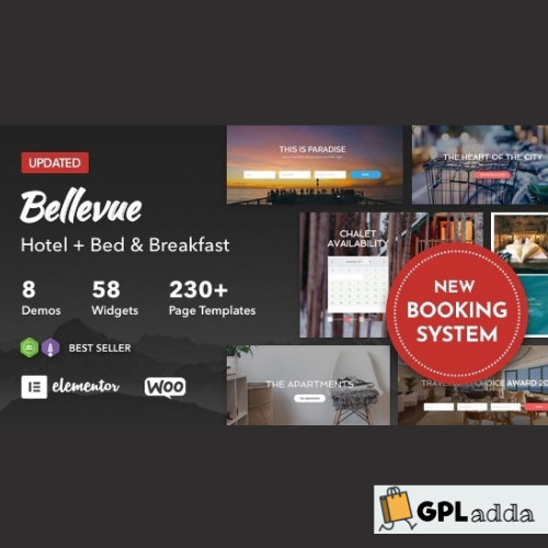 Bellevue Hotel + Bed and Breakfast Booking Calendar Theme