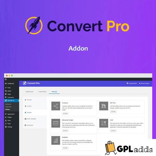 Convert Pro Addon