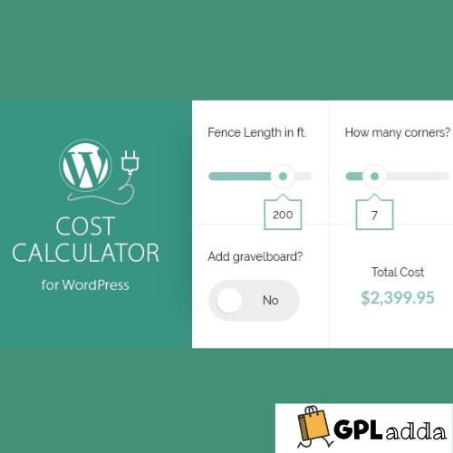 Cost Calculator WordPress