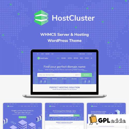 HostCluster - WHMCS Server & Hosting WordPress Theme
