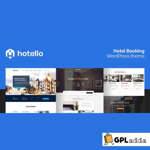 Hotello - Hotel Booking WordPress theme