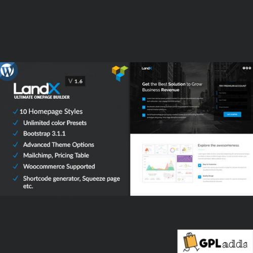 LandX - Multipurpose WordPress Landing Page