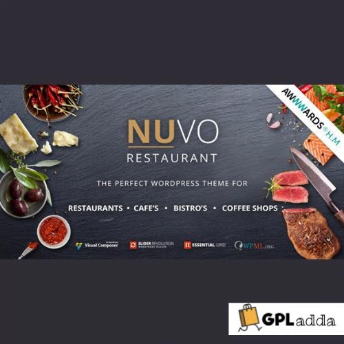 Nuvo – Cafe & Restaurant Wordpress Theme
