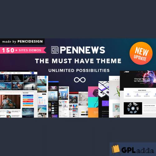 PenNews - News Magazine Business Portfolio Landing AMP WordPress Theme