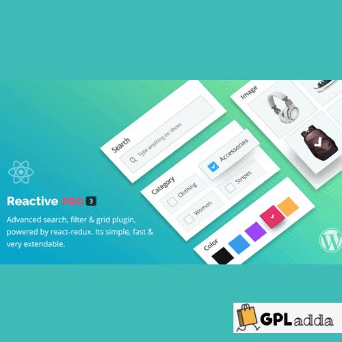 Reactive Search Pro - Advanced WordPress Search Filter Map & Grid