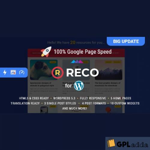 Reco - Minimal Wordpress Theme for Freebies