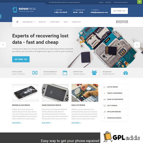RepairPress - GSM, Phone Repair Shop WP