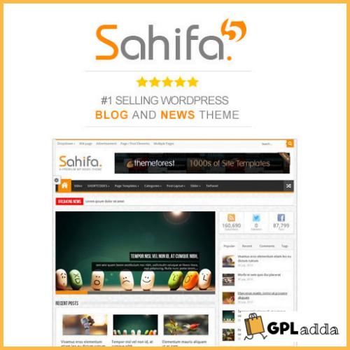 Sahifa - Responsive WordPress News Magazine Blog Themes