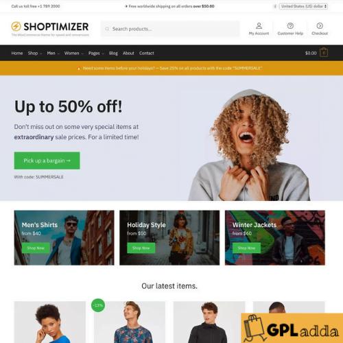 Shoptimizer - Optimize your WooCommerce store