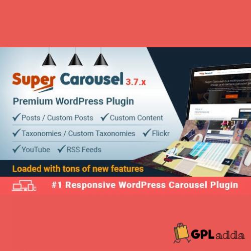 Super Carousel - Responsive Wordpress Plugins