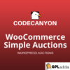 WooCommerce Simple Auctions - WordPress Auctions