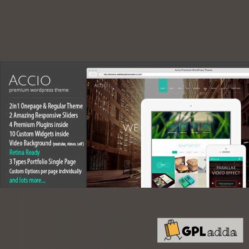 Accio | Responsive Onepage Parallax Agency WordPress Theme
