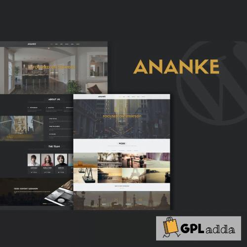 Ananke - One Page Parallax WordPress Theme