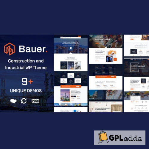 Bauer Construction and Industrial WordPress Theme
