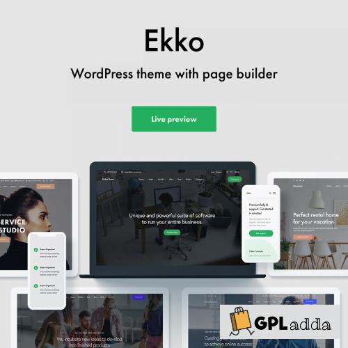 Ekko - Multi-Purpose WordPress Theme with Page Builder