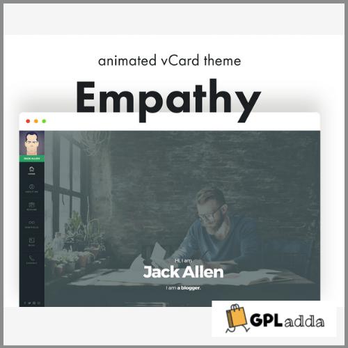 Empathy - vCard WordPress Theme