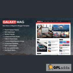 GalaxyMag - Responsive News & Magazine Blogger Template