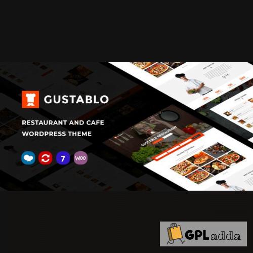 Gustablo Restaurant & Cafe Responsive WordPress Theme Premium