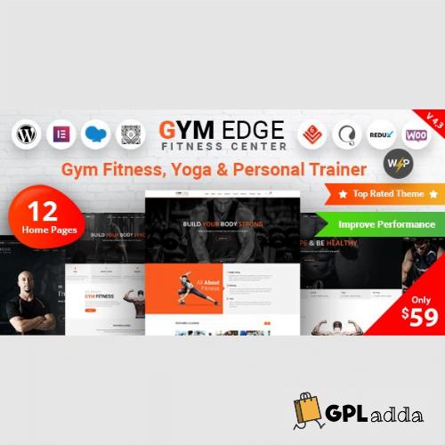 Gym Edge - Gym Fitness WordPress Theme