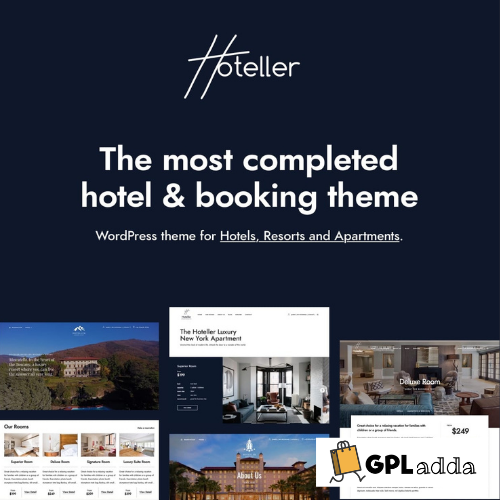Hoteller - Booking WordPress Theme