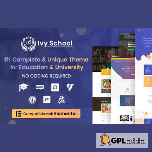 Ivy School - Education, University & School WordPress Theme