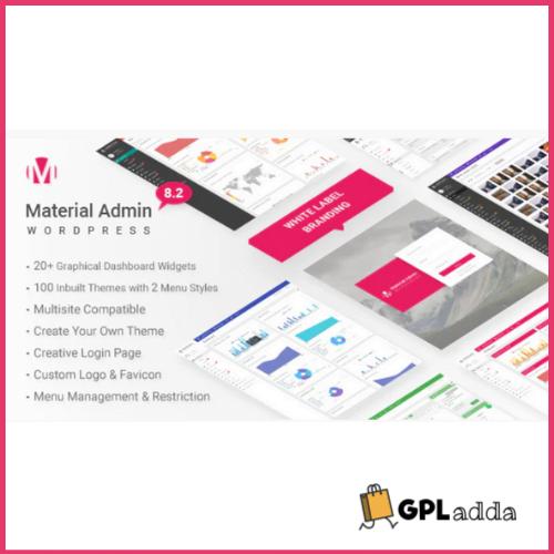 Material - White Label WordPress Admin Theme