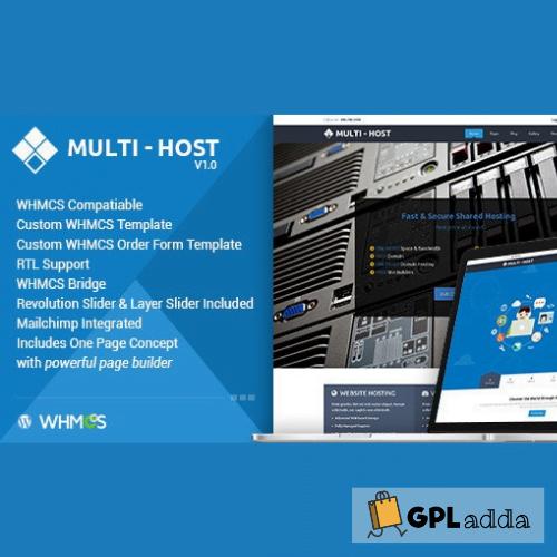 Multi Hosting WHMCS Hosting WordPress Theme