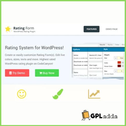 Rating Form WordPress Plugin