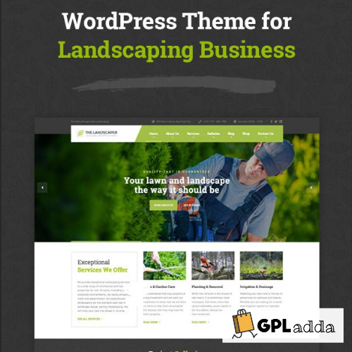 The Landscaper - Lawn & Landscaping WP Theme