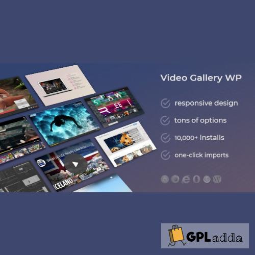 Video Gallery Wordpress Plugin w YouTube, Vimeo, Facebook pages