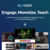 Vlogger Professional Video & Tutorials WordPress Theme