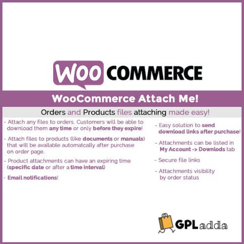 WooCommerce Attach Me
